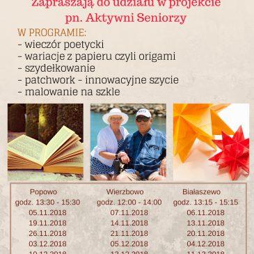 Aktywni seniorzy – dofinansowanie na zajęcia dla seniorów